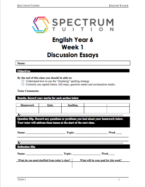Learn More About Our Spectrum Tuition Course Books