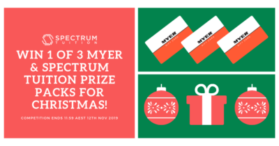 Win 1 of 3 Myer & Spectrum Tuition Gift Cards This Christmas!
